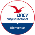 Logo ANCV - Chèques vacances bienvenus